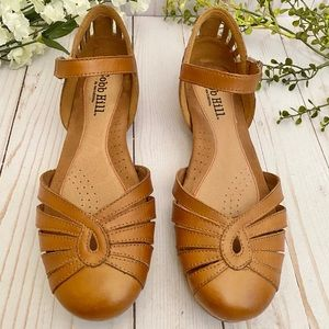 Cobb Hill by New Balance Tan Leather Sandals, Sz 9
